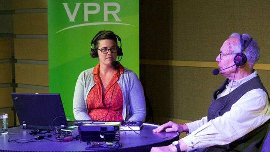 VPR's Jane Lindholm interviewing Archer Mayor