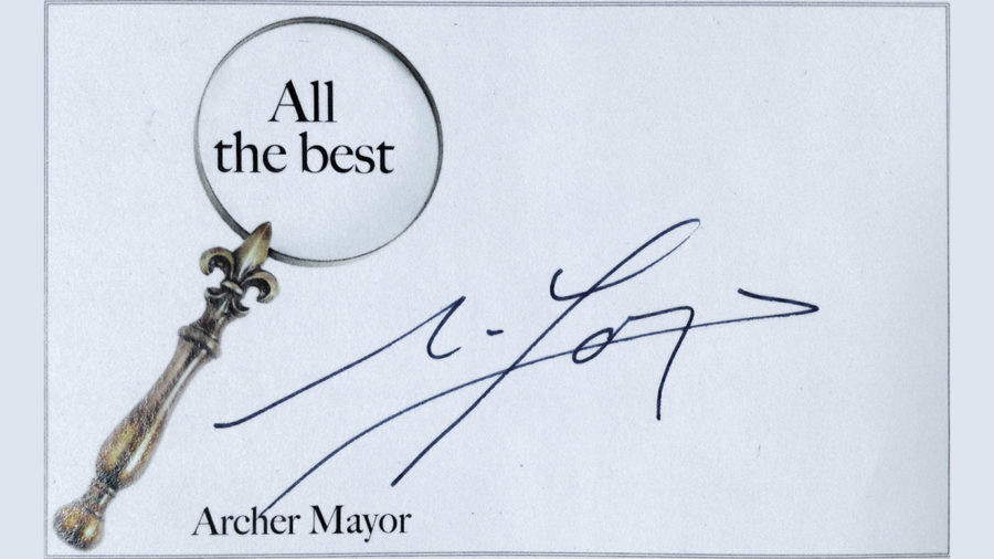 Archer Mayor Signed Bookplate